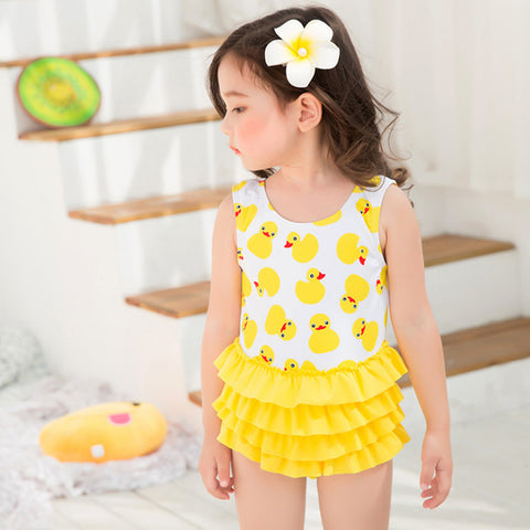 Swimwear One Piece Duck for Girls