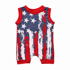 Romper Unisex Flag USA Sleeveless - 2 Colors