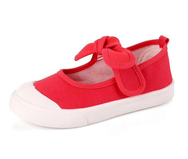 Canvas Shoes for Girls with Bow - Babies4you