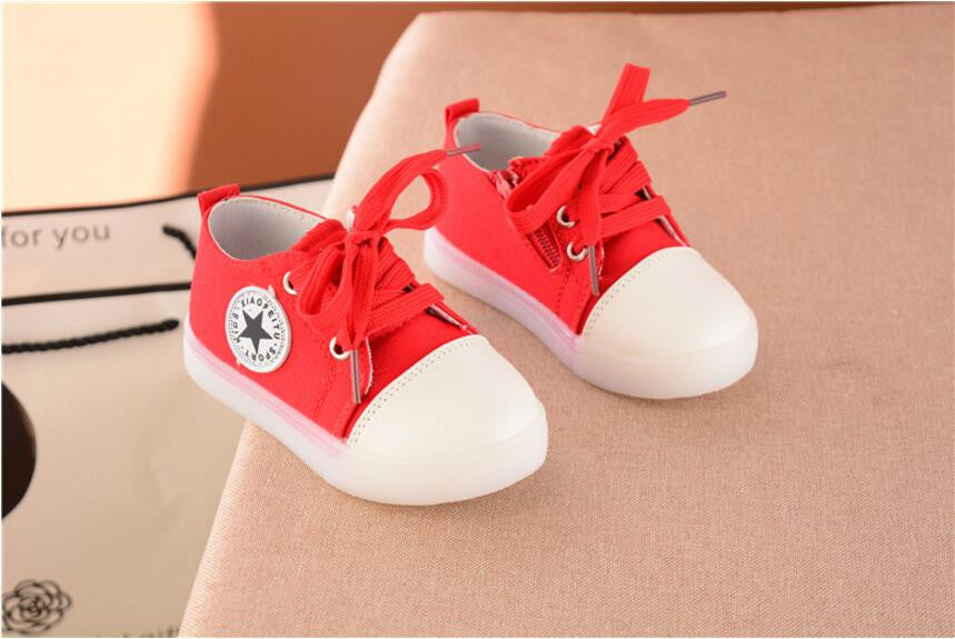 Canvas Shoes LED Light Luminous Flasher for Boys & Girls Casual