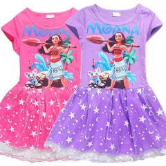 Dress for Girls Cartoon Short Sleeve
