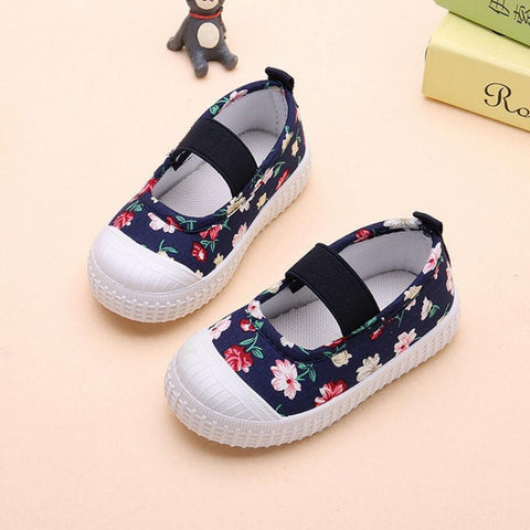 Canvas Shoes for Girls Flowers - 2 Colors