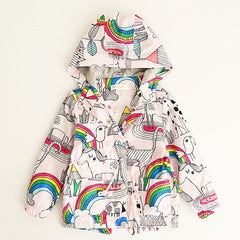 Coat with Hoodie for Girls Unicorn Long Sleeve