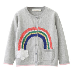 Cardigan for Girls Rainbow Long Sleeve