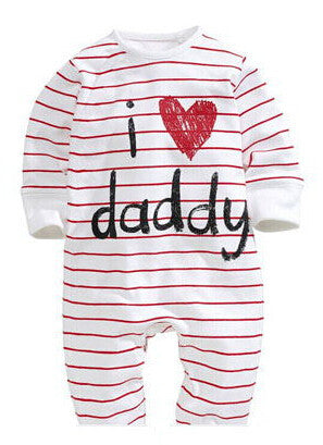 Rompers Newborn Unisex I Love Mummy / Daddy Long Sleeve - Babies4you