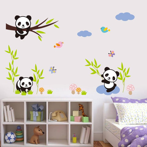 Wall Stickers Baby Pandas for Kids Room