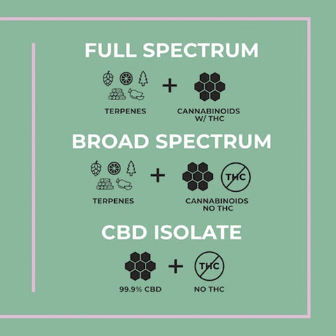 isolate vs broad spectrum vs full spectrum cbd
