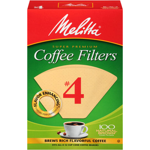 MELITTA SUPER PREMIUM Natural Brown Coffee Filters #4