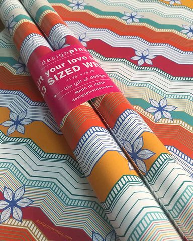 Wrapping Paper - zig zag floral-Stationery-PropShop24.com