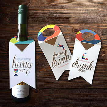 Bottle Tags - drunk time-STATIONERY-PropShop24.com