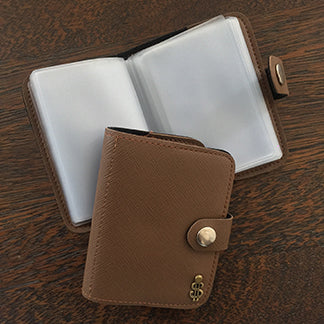 Leather Card Pouch- Brown-FASHION-PropShop24.com