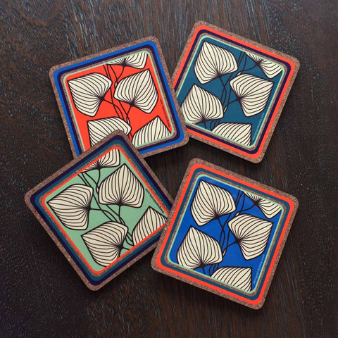 Coasters - leafy-Stationery-PropShop24.com