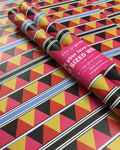 Wrapping Paper - zig zag triangles-Stationery-PropShop24.com
