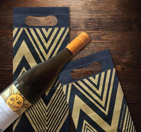 Wine Bag - royal blue - zig zag-Stationery-PropShop24.com