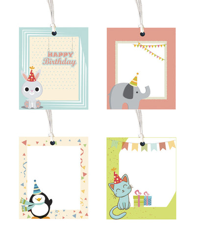 Gift tag - Cute animal theme - Set of 8