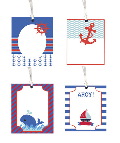 Gift tag - Nautical - Set of 8