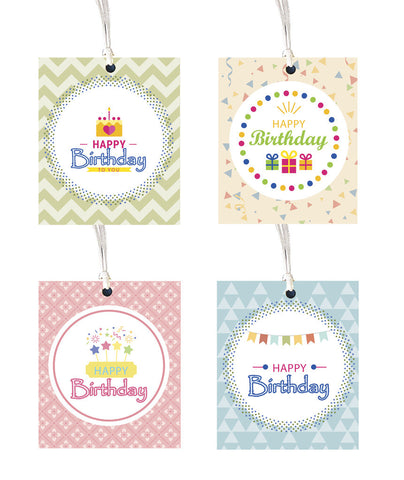 Gift tag - Happy Birthday - Set of 8