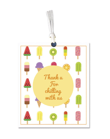 Gift tag - Thank you for chilling with us - Set of 8-PropShop24.com