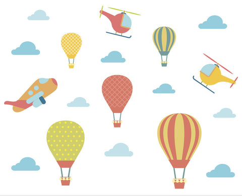 Wall decals - Large size - Hot air balloon-PropShop24.com