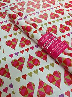 Wrapping Paper - pink hearts