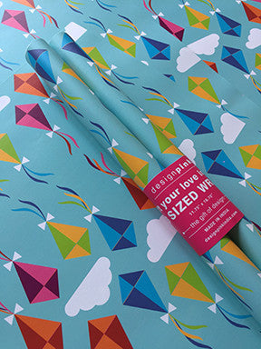 Wrapping Paper - blue kites-Stationery-PropShop24.com
