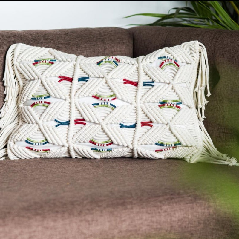 Cushion Cover - Samarkand Tassels-HOME ACCESSORIES-PropShop24.com