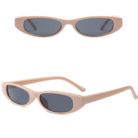 Retro Oval Sunglasses - Apricot-FASHION-PropShop24.com