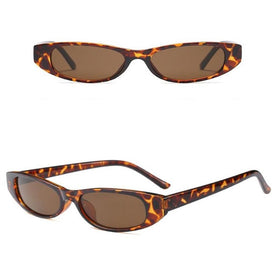 Retro Oval Sunglasses - Brown-FASHION-PropShop24.com