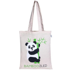 Premium Tote Bag- Bamboozled Panda (Natural)-FASHION-PropShop24.com