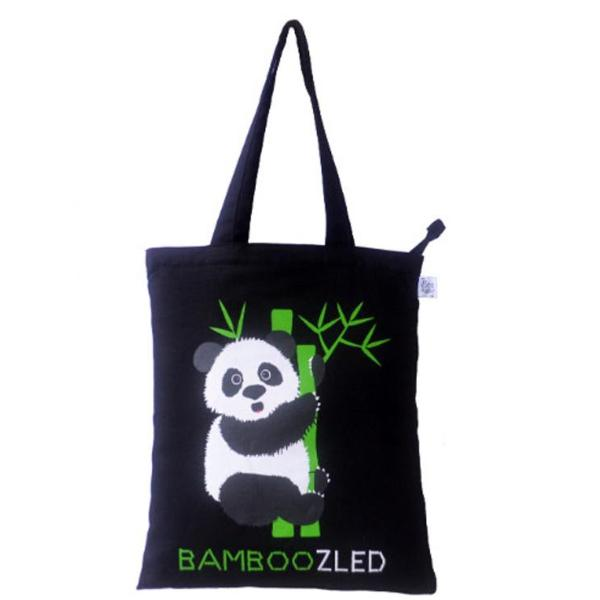Premium Tote Bag- Bamboozled Panda (Black)-FASHION-PropShop24.com