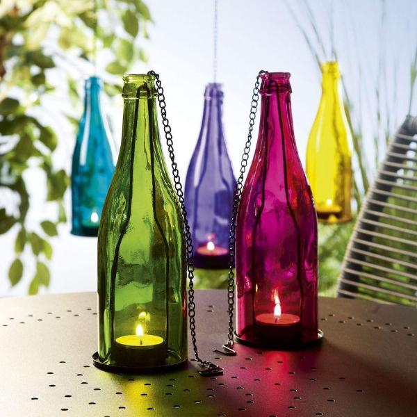 Hanging Bottle Lamps - Pink-Home-PropShop24.com