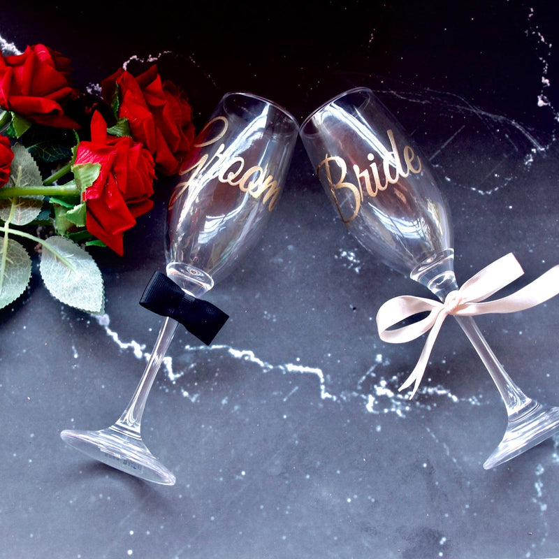 Wine Glasses - Groom And Bride-BAR + PARTY-PropShop24.com