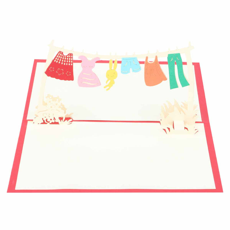 Pop Up 3D Greeting Card - Baby Shower - Red-GREETING CARDS-PropShop24.com