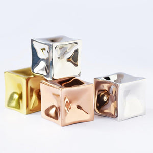Ice Cubes - Paper Weight - Silver-DESK ACCESSORIES-PropShop24.com