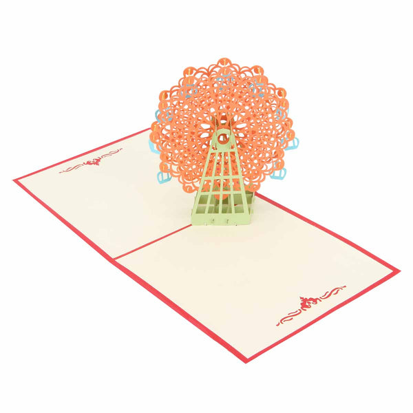 Pop Up 3D Greeting Card - Flower Power - Red-Stationery-PropShop24.com