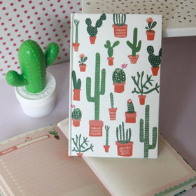 White Cactus Planner Notebook-STATIONERY-PropShop24.com