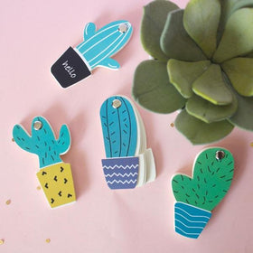 Mini Cactus Notepads - Black-STATIONERY-PropShop24.com