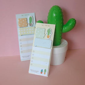 Cactus Post- Set of 2 Yellow-STATIONERY-PropShop24.com