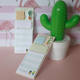 Cactus Post- Set of 2 Green-STATIONERY-PropShop24.com