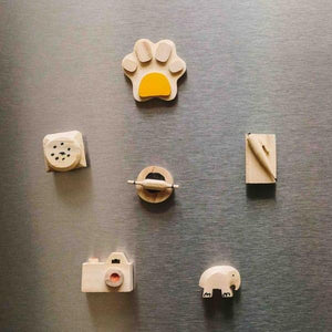 Cute Wooden Miniature Fridge Magnets - Set Of 6-DINING + KITCHEN-PropShop24.com
