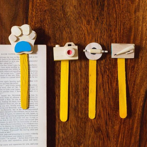 Wooden Miniature Bookmark (Set Of 4)-DESK ACCESSORIES-PropShop24.com
