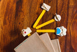 Wooden Miniature Bookmark (Set of 4)-STATIONERY-PropShop24.com
