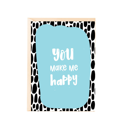 Greeting Card - You make me happy-Stationery-PropShop24.com