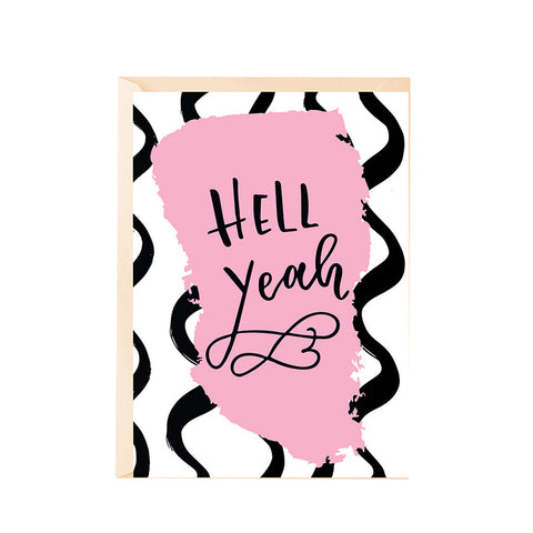 Greeting Card - Hell yeah!-PropShop24.com