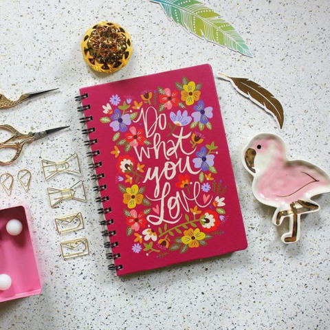 Notebook - Quote - Pink-Stationery-PropShop24.com