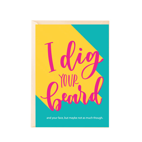 Greeting Card - Dig your beard-Stationery-PropShop24.com