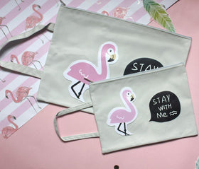 Flamingo Pouch - Stay With Me - Set of 2-FASHION-PropShop24.com