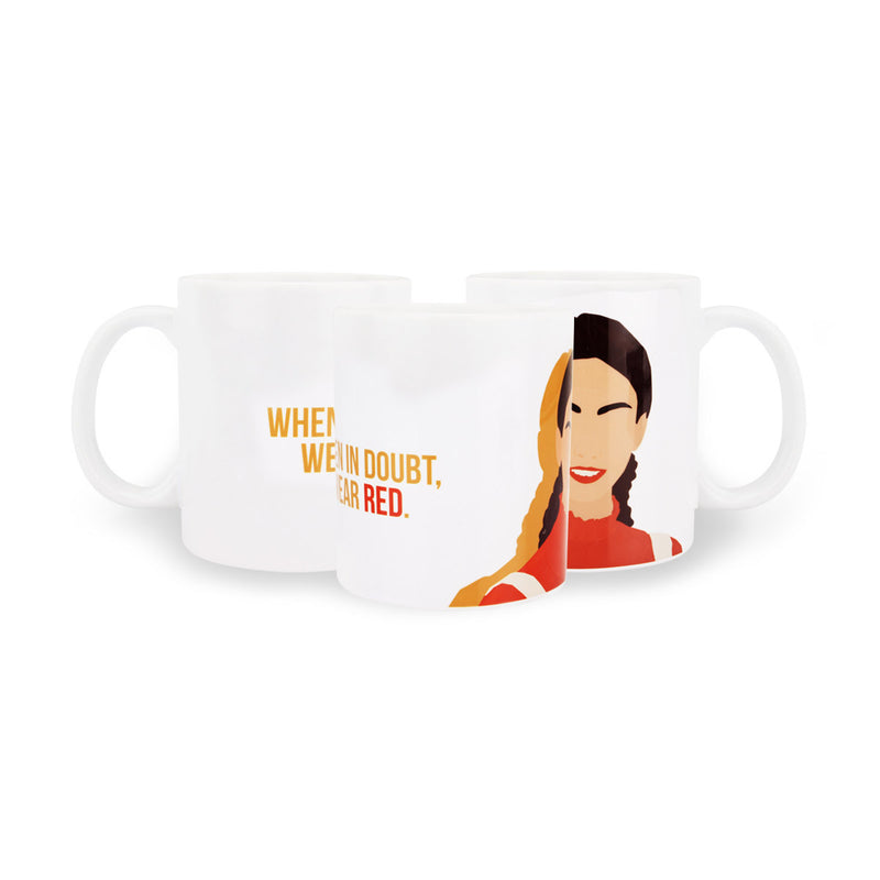 Coffee Mug - When In Doubt Wear Red-Home-PropShop24.com