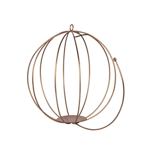 Pumpkin Hanging Metal Planter - Gold Finish-HOME ACCESSORIES-PropShop24.com