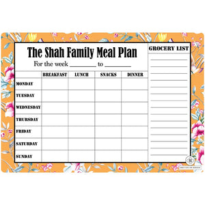 Personalized Rewritable Meal Plan Magnet - Garden Sunshine Magnum- C.O.D Not Available-NOTEBOOKS + JOURNALS-PropShop24.com